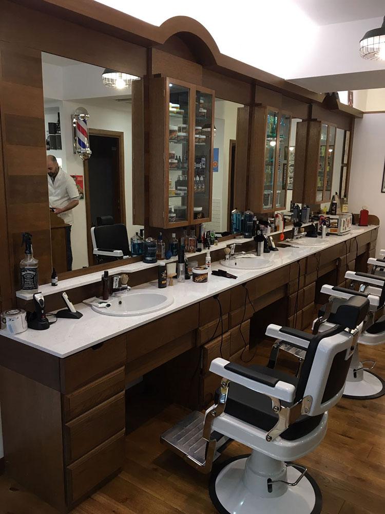 Eccezionale Postazioni e arredamento per Barber Shop | Wood Design PI38