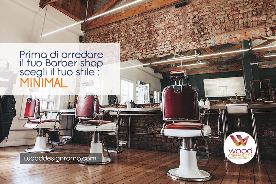 stile arredamento barber minimal