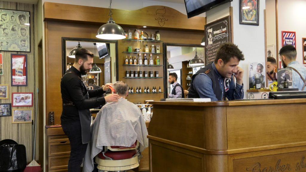 reception barber shop